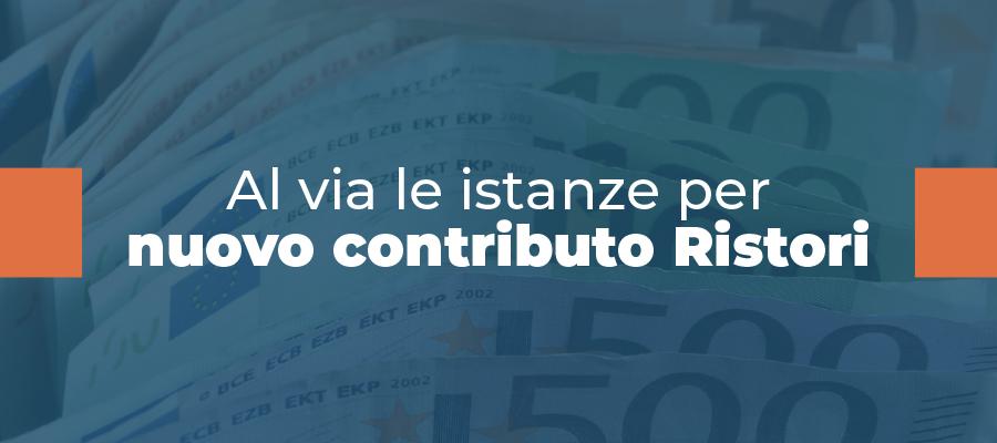Al via le istanze per nuovo contributo Ristori