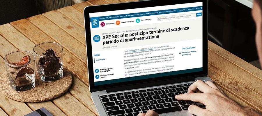 APE sociale 2019: riapertura dei termini