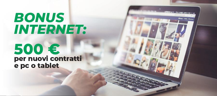 Bonus Internet: 500 euro per nuovi contratti e pc o tablet