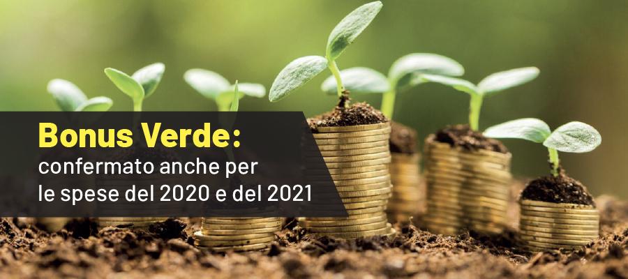 Bonus Verde: confermato anche per le spese del 2020 e del 2021