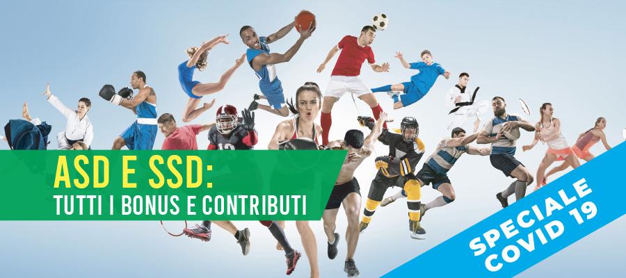 Contributi, bonus e aiuti per ASD/SSD