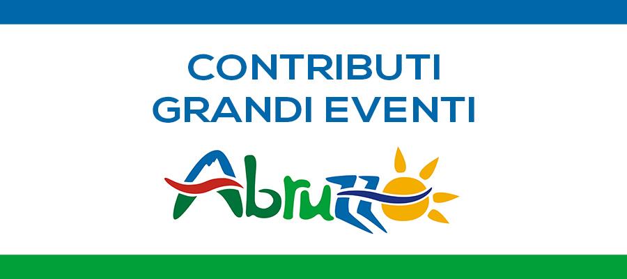 Contributi per grandi eventi in Abruzzo