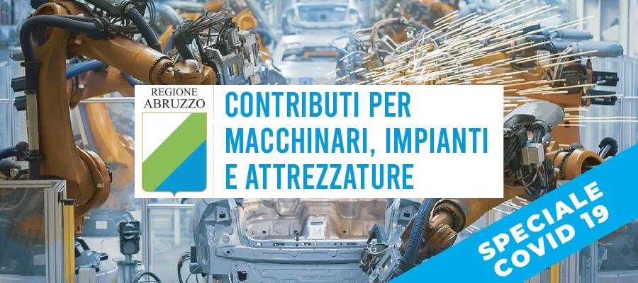 Contributi per macchinari, impianti e attrezzature