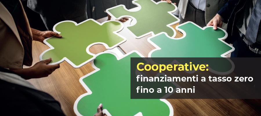 Cooperative: finanziamenti a tasso zero fino a 10 anni
