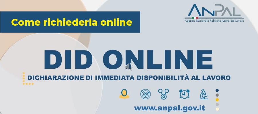 Dichiarazione di Immediata Disponibilità: come richiederla online
