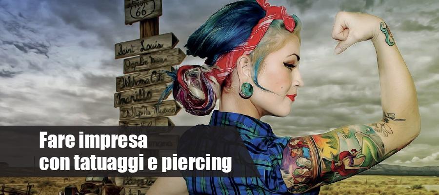 Fare impresa con tatuaggi e piercing