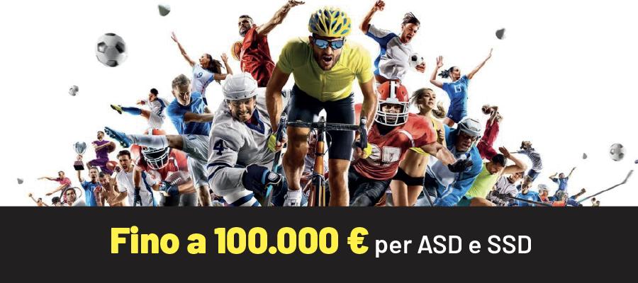 Fino a 100.000 euro per ASD e SSD