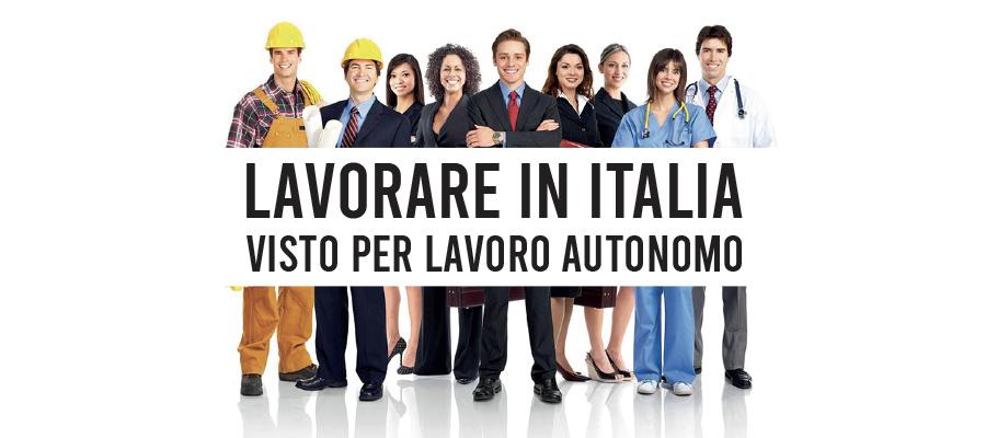 Lavorare in Italia con il visto per lavoro autonomo
