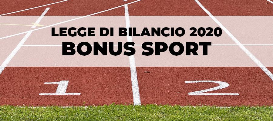 Legge di bilancio 2020: prorogato il Bonus Sport