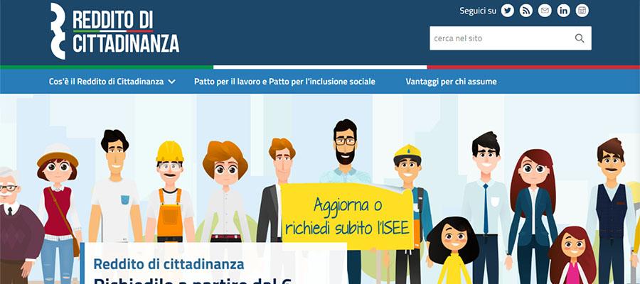 Reddito di cittadinanza, online il sito istituzionale