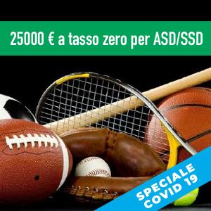 25000 euro a tasso zero per ASD/SSD