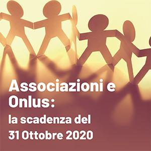Associazioni e Onlus al bivio del 31 ottobre 2020