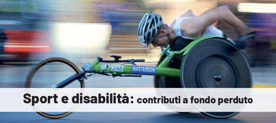 Contributi per avviamento sportivo dei disabili