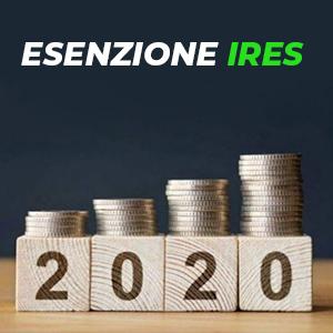 Esenzione dal pagamento dell'IRES: dal 2020 estesa a nuovi soggetti