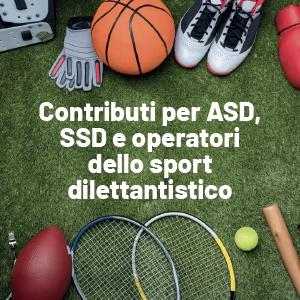 I ristori per ASD, SSD e operatori dello sport dilettantistico