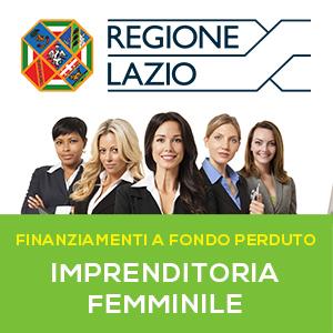 Imprenditoria femminile: il bando della Regione Lazio a fondo perduto