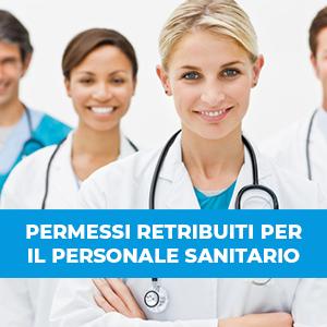 Incremento dei permessi retribuiti per il personale sanitario