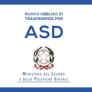 Nuovo Obbligo di trasparenza per le ASD