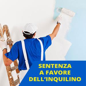 Tinteggiare l'appartamento: sentenza della cassazione a favore dell'inquilino
